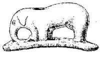 Слоновья трубка (Farquharson, R. J.; American Antiquarian, 2:67-69, 1879). Слоновья трубка найдена в индейском захоронении в Луис Каунти, штат Айова.