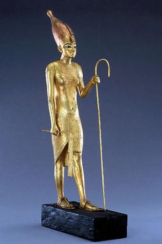 Статуэтка Тутанхамона с пастушеским жезлом - символом царственной власти