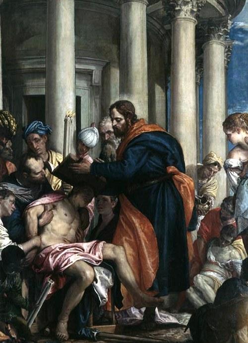 Варнава исцеляет больного (с картины Паоло Веронезе)