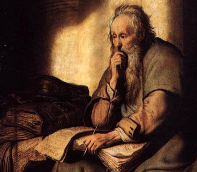 """Павел в темнице"" - картина Рембрандта"
